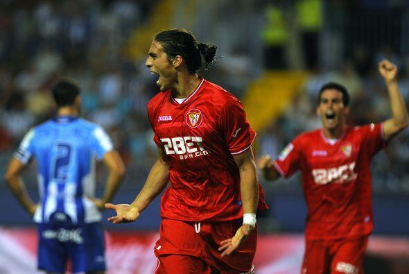 Y el uruguayo Martín Cáceres consiguió su primer tanto con el Sevilla, q...