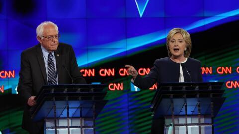 Primarias Carolina del Sur GettyImages-Clinton-Sanders-Debate-CNN.jpg