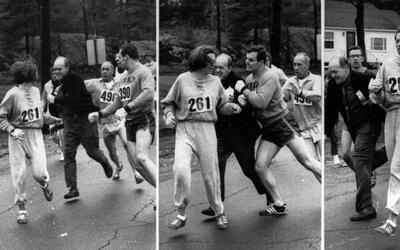 La primera mujer en correr la maratón de Boston la completa nuevamente 5...