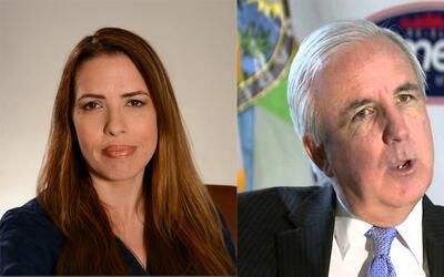 Raquel Regalado y Carlos Giménez.
