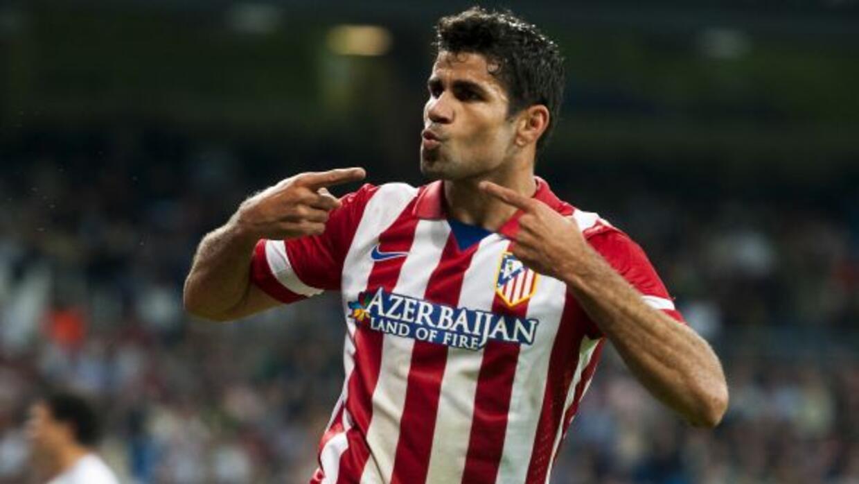 Diego Costa jugó un partidazo e hizo el gol del triunfo del Atlético.