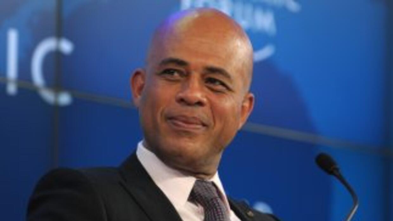 El presidente de Haití,Michel Martelly.