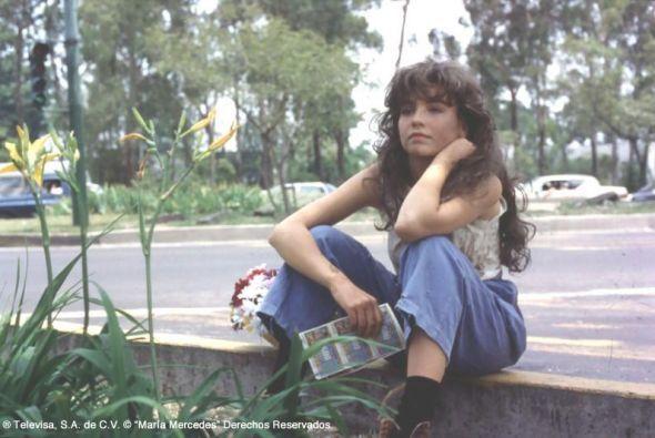 ¿Y esta jovencita? Thalía no era amante del agua y el jabón.