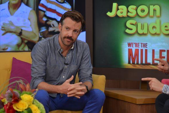 El actor Jason Sudeikis llegó esta mañana a Despierta América.