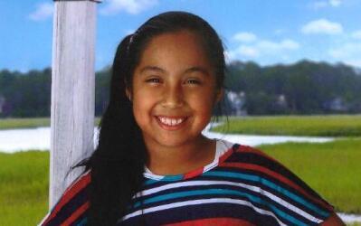 La joven de nueve años Diana Alvares