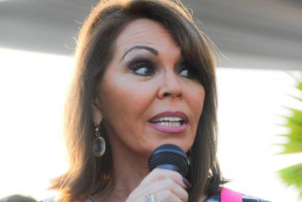 María Elena Salina, fue la maestra de ceremonias para un evento con el r...