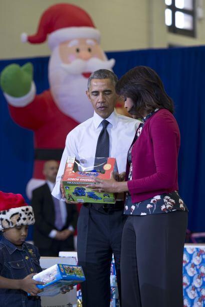 Muy puntuales los Obama llegaron este miércoles a la Base Conjunta Anaco...