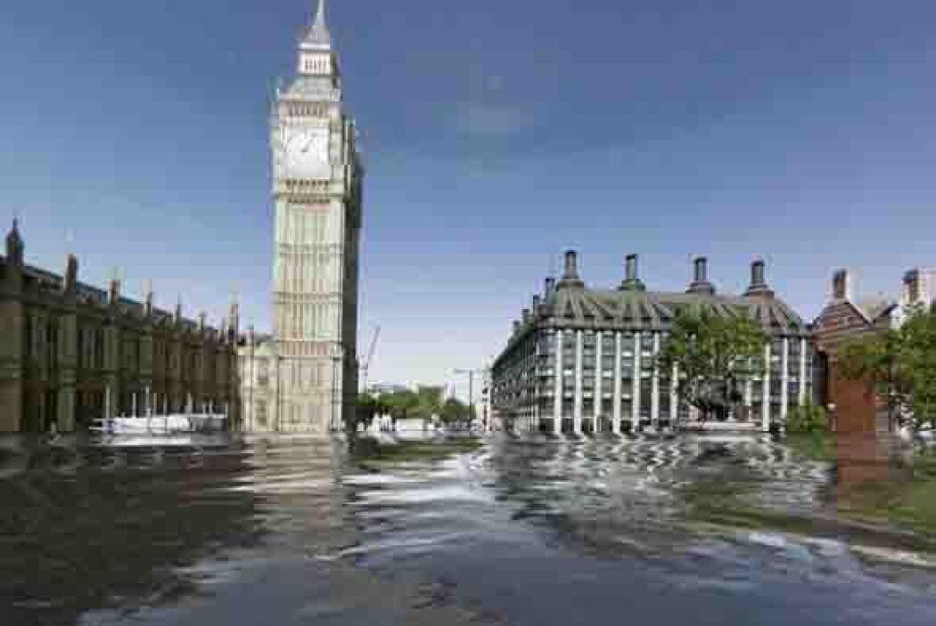 Aquí el famoso reloj de Londres, el llamado Big Ben. Los distintos tipos...