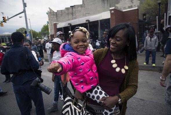 En las manifestaciones de este 1 de mayo, también hubo niños.