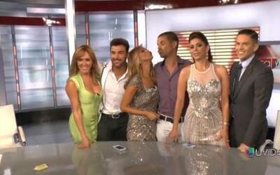 ¿Mark Tacher besó a Verónica Bastos detrás de cámara en Sal y Pimienta?
