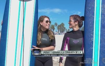 Adriana y Lindsay a la conquista de 'surf' en Venice Beach