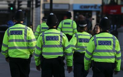 Policía en Manchester, Reino Unido.