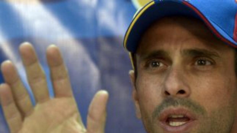 El opositor venezolano Henrique Capriles.