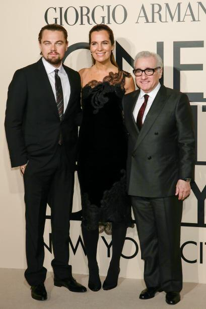 Un trío muy elegante formaron Leonardo DiCaprio, Roberta Armani y el dir...