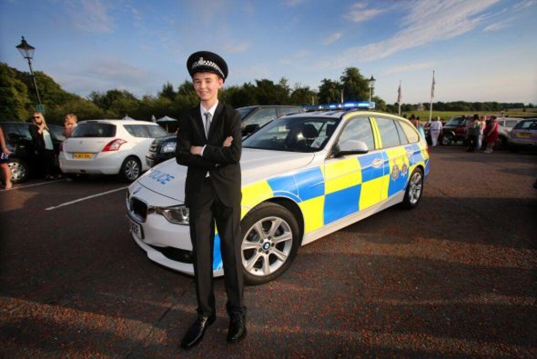Por un momento cumplió su sueño de estar dentro del mundo de la policía.
