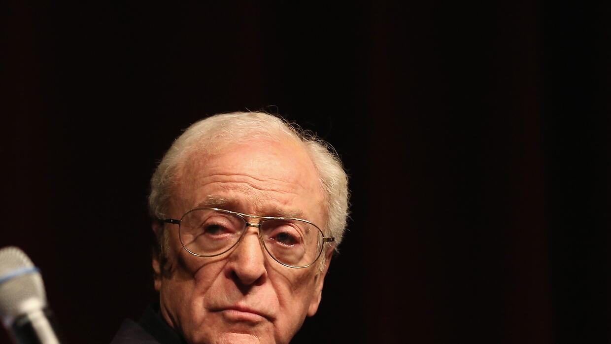 Michael Caine in conference