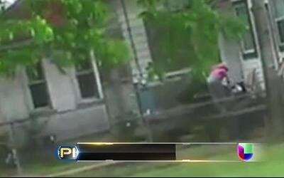 Brutal golpiza de una mujer a un pequeño captada en video