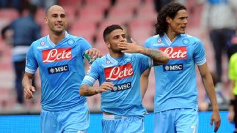 Los napolitanos se reafirmaron como segundos del campeonato italiano, de...