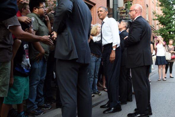 Después de la cena, Obama se saltó el guion.
