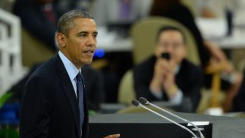 El presidente de Estados Unidos, Barack Obama, pro nuncia u discurso an...