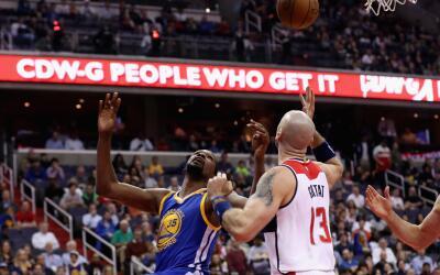 Durant sufrió una hiperextensión de la rodilla.