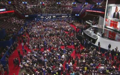 Inicia la Convención Nacional Republicana con manifestaciones