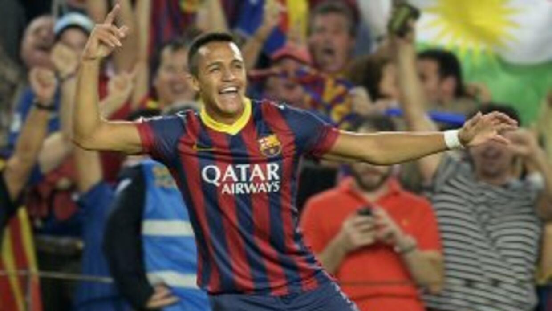 Alexis hizo una obra de arte de gol para darle la ventaja de 2-0 al Barc...