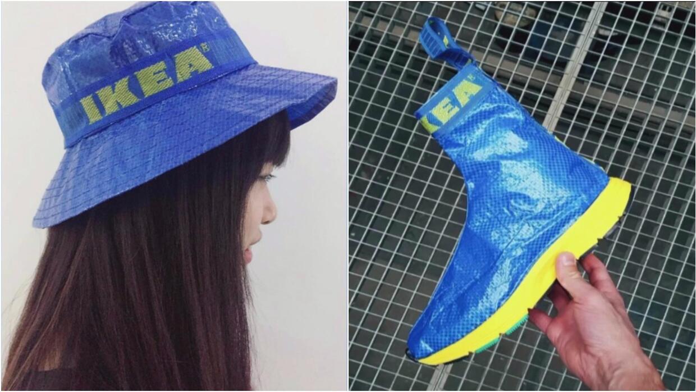 Moda reciclable: Convierten las bolsas azules de la tienda Ikea en ingen...
