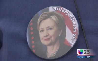 Hillary Clinton hace campaña en Tampa