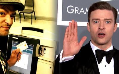 Justin Timberlake violó la ley al votar