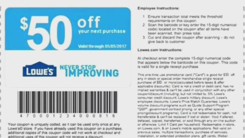 Compañía Lowe's alerta sobre falso cupón que está circulando en las rede...
