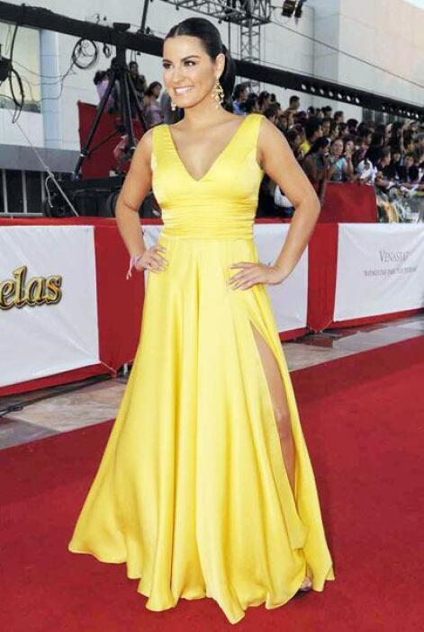 En 2011 robó suspiros con este vestido amarillo que le dio mucha luz a s...