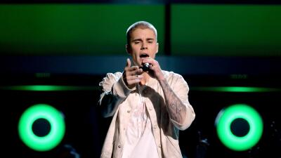 LAS VEGAS, NV - MAY 22: Recording artist Justin Bieber performs onstage...
