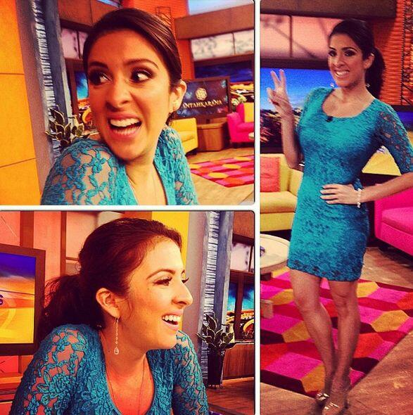"""Wearing #blue but feeling #great! Happy #Thursday! @despiertaamericatv""..."