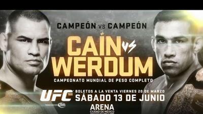 Finalmente, el 13 de junio Caín y Werdum se verán las caras en México.