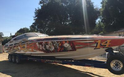 Barco decomisado a la pandilla Norteño en California