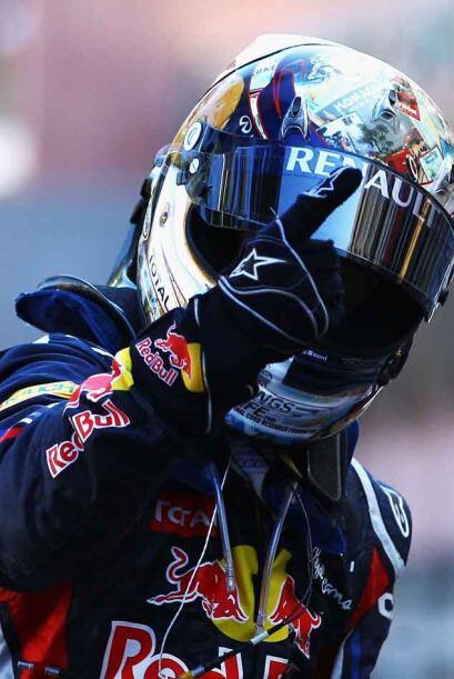 La quinta victoria de la temporada para Vettel en seis carreras.