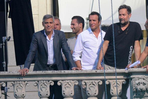 George Clooney se encontraba grabando escenas para del nuevo spot de la...