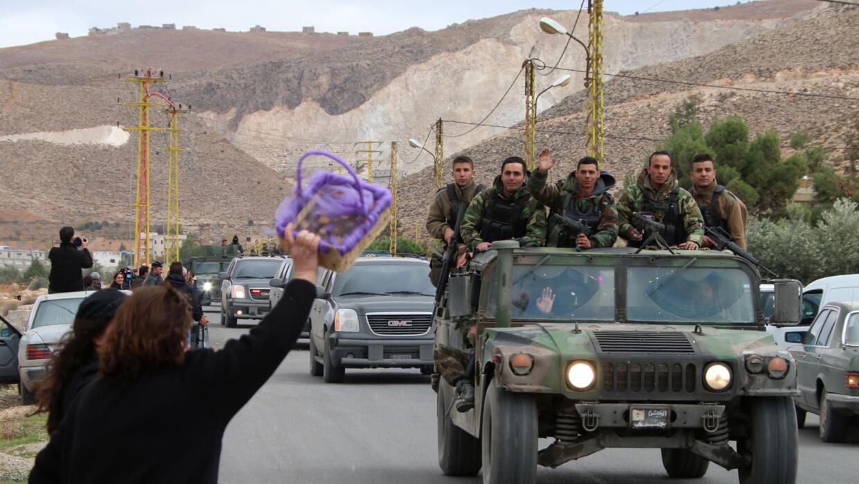 Miembros del ejército de Líbano.
