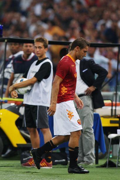 Totti ya se ha quejado de no ser titular indiscutible.