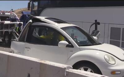 Oficial fuera de servicio murió al ser impactado por un autobús