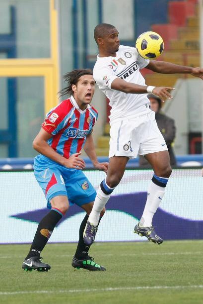 Samuel Eto'o fue de lo mejor en el juego, pero no consiguió gol.