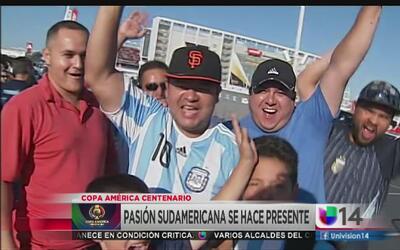 Fanáticos de Argentina y Chile encienden ánimos en Santa Clara