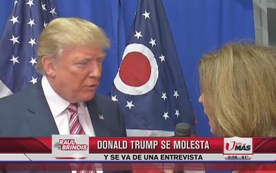 Donald trump se molesta y se va de una entrevista