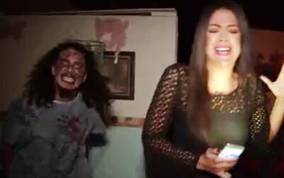 Qué miedo: A Carolina Ramírez la persiguieron los zombies y corrió asustada