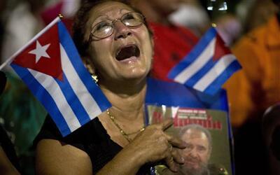 Las cenizas de Castro fueron transportadas hasta la ciudad de Santiago,...