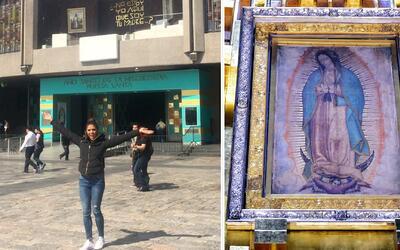 Francisca visitó por primera vez la Basílica de Guadalupe y se llenó de...