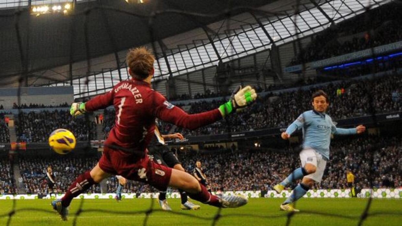 El centrocampista español marcó los dos goles del City.