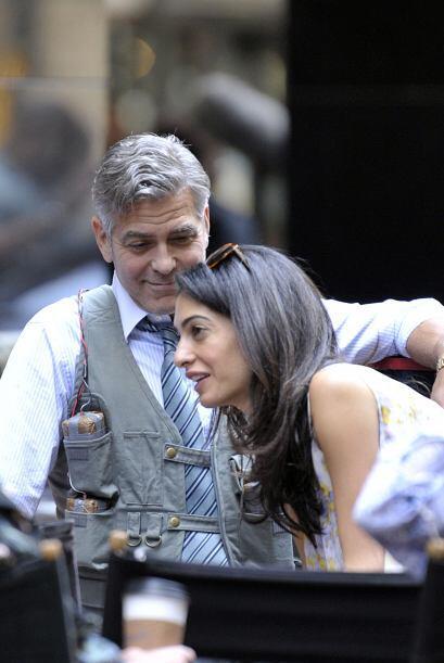 Amal y George fueron captados en Nueva York, en el set de la película 'M...