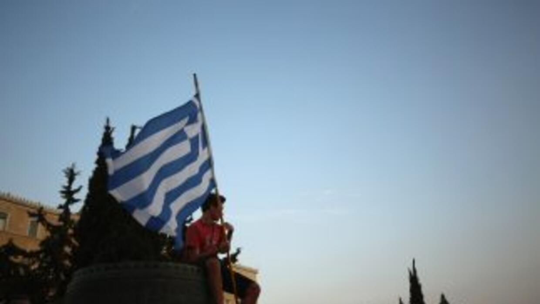 Un manifestante en Atenas